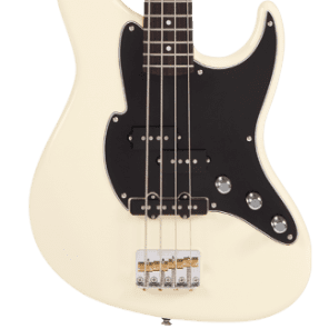 Fret-King Black Label Perception Bass FKV4VW Vintage White, New, Free Shipping for sale