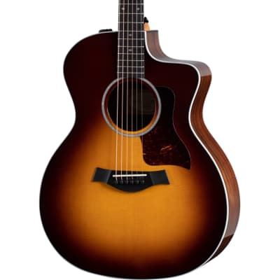 Taylor 214ce-SB DLX Sitka Spruce / Rosewood Grand Auditorium with ES2 Electronics, Cutaway 2016 - 2017