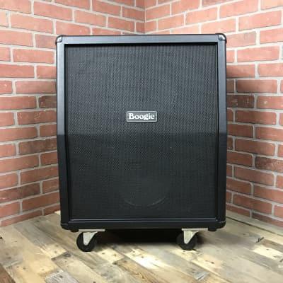 Boogie Logo'd Mesa 2X12 Recto Vertical Cabinet Black Vinyl Black Grille for sale