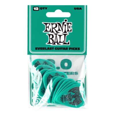 Ernie Ball 2.0mm Teal Everlast Picks 12-pack (P09196) for sale
