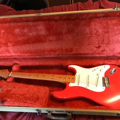 Fender 1984 Fender USA Fullerton 57 re issue Stratocaster Fiesta Red 1984 Fiesta Red for sale