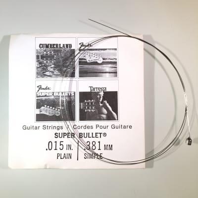 """Fender REAL Vintage 70's Super Bullet String 0.015"""" Plain"""