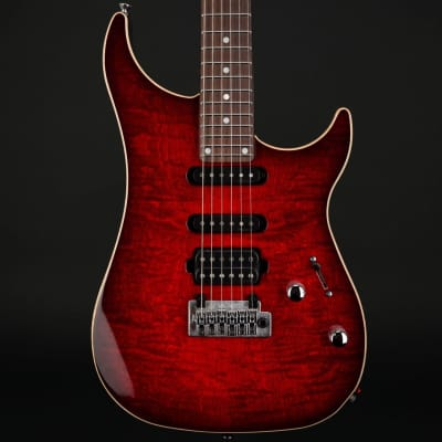 Vigier Excalibur Ultra Blues HSS, Rosewood in Mysterious Red with Case #190078 for sale