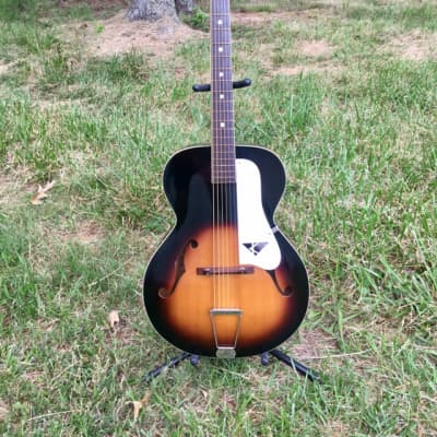 Vintage 1960s USA Kay Archtop Acoustic Guitar OHSC L7462 Kluson Inline tuners for sale