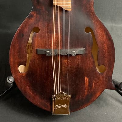 Kentucky KM-606 Standard F-Style Mandolin Walnut Stain Finish w/ Travel Case for sale