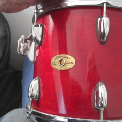 Slingerland Lite HSS Era 12x10  Tom Jasper shell Gloss Red transluscent lacquer Beautiful condition!