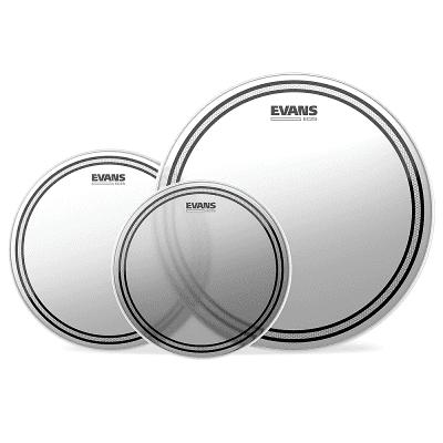 """Evans ETP-EC2SCTD-S EC2 Coated Standard (12/13/16"""") Tom Drum Head Pack"""