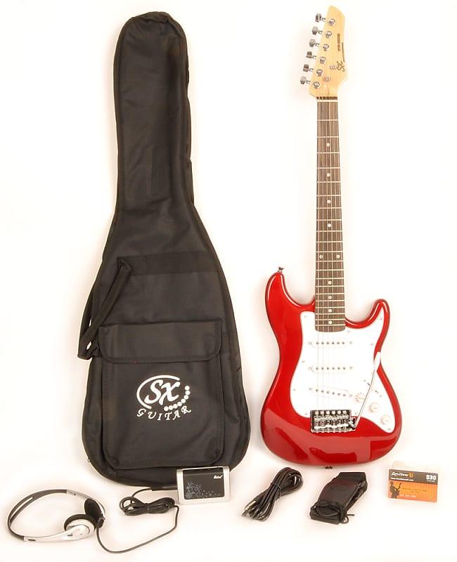 sx 1 2 size electric guitar package w bag cord headphones reverb. Black Bedroom Furniture Sets. Home Design Ideas