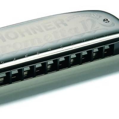 Hohner Chrometta 12 Key of G Chromatic Harmonica, 255-G