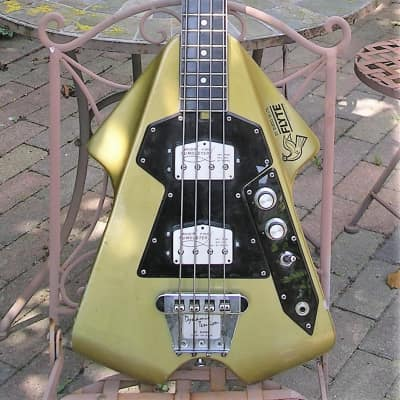 Burns Flyte Bass 1975 Gold for sale