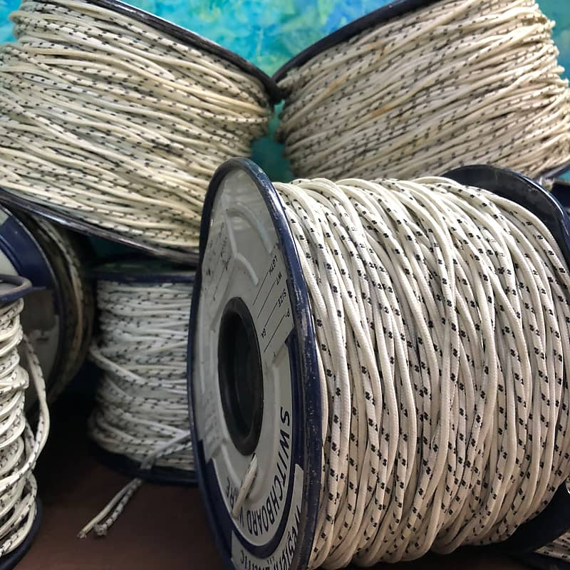 Vintage 25 Ft 2 Conductor Twisted Insulated Cloth Covered Reverb