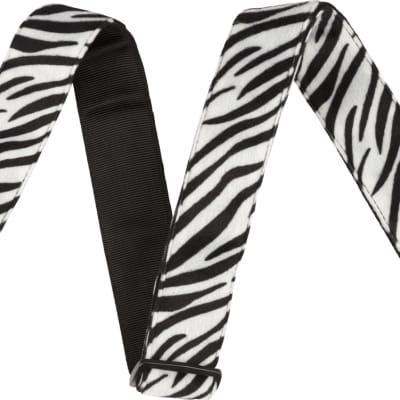 Fender Wild Animal Print Strap - Zebra