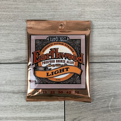 Ernie Ball Earthwood Phosphor Bronze Acoustic Guitar Strings, 11-52, Light