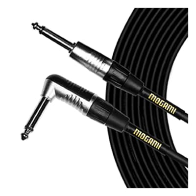 Mogami CorePlus TS-TS Right Angled Instrument Cable 20'