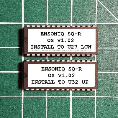 Ensoniq SQ-R OS v1.02 EPROM Firmware Upgrade SET / Brand New ROM Update Chips For SQR