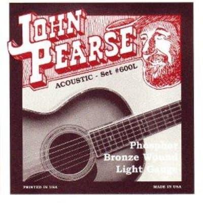 John Pearse Phosphor Bronze Acoustic Guitar Strings - 600L Light Gauge