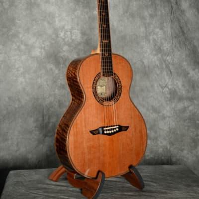 Petros Petros Custom Hope Motif - Fingerstyle Acoustic Guitar 2015 Claro Walnut and Cedar for sale