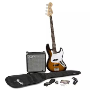 """Squier """"Stop Dreaming, Start Playing!"""" Affinity Jazz Bass Pack"""