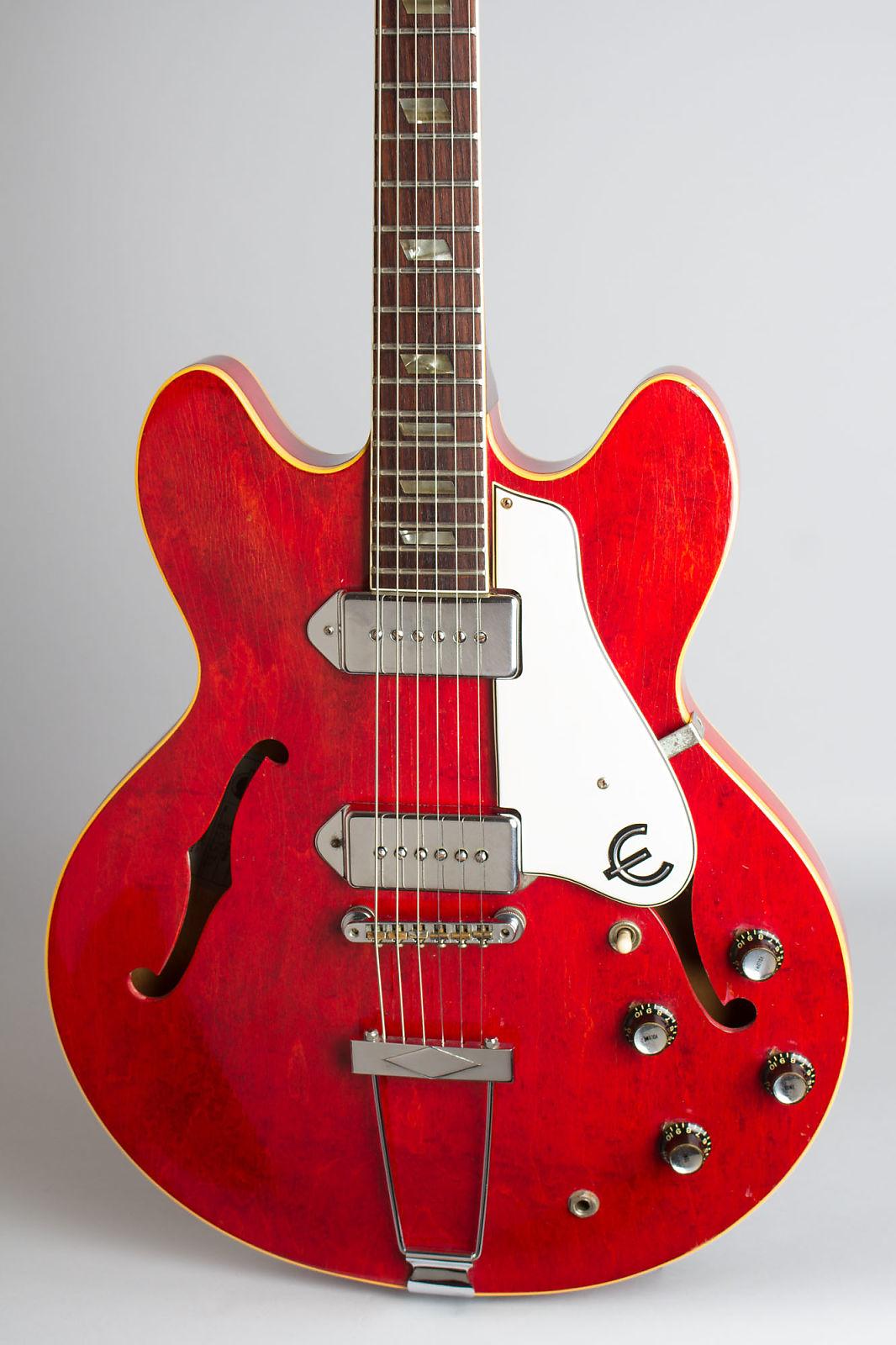 Epiphone  Casino E-230TDC Thinline Hollow Body Electric Guitar (1967), ser. #893534, black hard shell case.