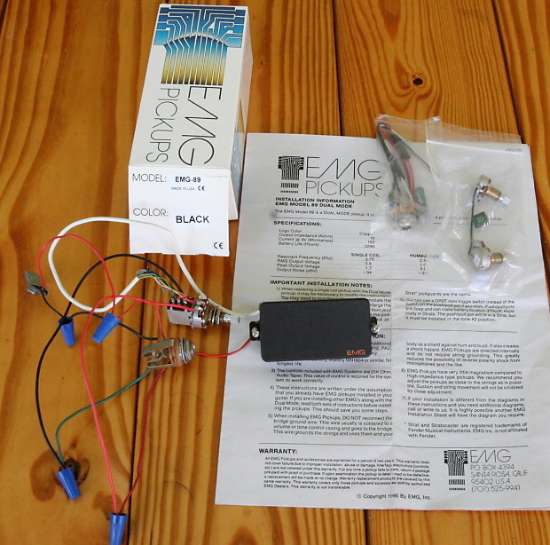EMG-89 with Pre-Wired Push/Pull Switch, Box, and All-New Extra Accessories  EMG89