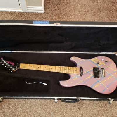Peavey Tracer II, Vintage 1989 Hair Metal Shredder In Pink Splatter! Original Case, Excellent!! for sale