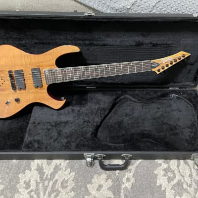 Blakhart Custom Shop Elite 7 string guitar, OHCS, EMG pup's, excellent playing and sounding machine for sale