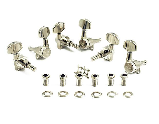 kluson locking tuners 3x3 large metal button nickel reverb. Black Bedroom Furniture Sets. Home Design Ideas