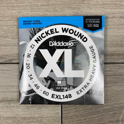 D'Addario EXL148 Nickel Wound Electric Guitar Strings, 12-60, Extra Heavy Set