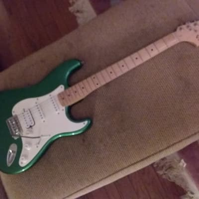 Fender Squier Stratocaster S/S/H...Green Metallic Phat/Fat Strat! for sale