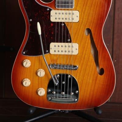 Revelation RFT DLX Thinline Electric Guitar Sunburst Left Handed for sale