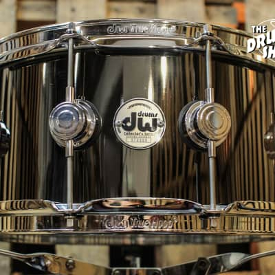 DW Collector's Black Nickel Over Brass 6.5x14 Snare Drum - DRVB6514SVC