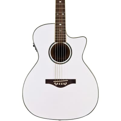 Daisy Rock Wildwood Acoustic-Electric Guitar Regular Pearl White for sale