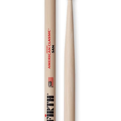 Vic Firth 5AN 1 Pair of American Classic 5A Drumsticks with Nylon Tear Drop Nylon Tip