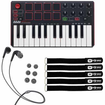 Akai MPK Mini MKII MK2 25-Key Compact USB MIDI Keyboard MPC Pad Controller Pack