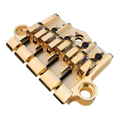 Babicz Full Contact Hardware 3 Point Bass Bridge Gold FCH3PT4GD Close Out! for sale