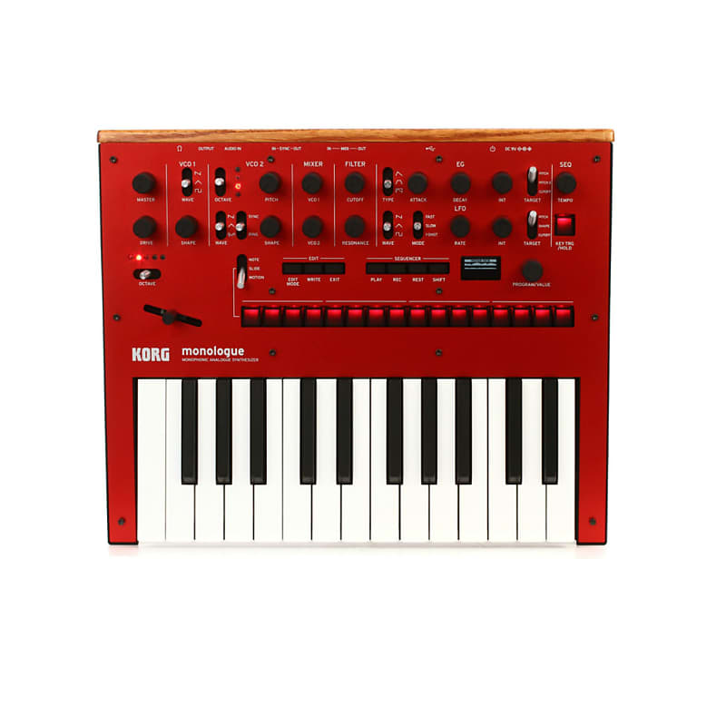 korg monologue monophonic analog synthesizer red reverb. Black Bedroom Furniture Sets. Home Design Ideas