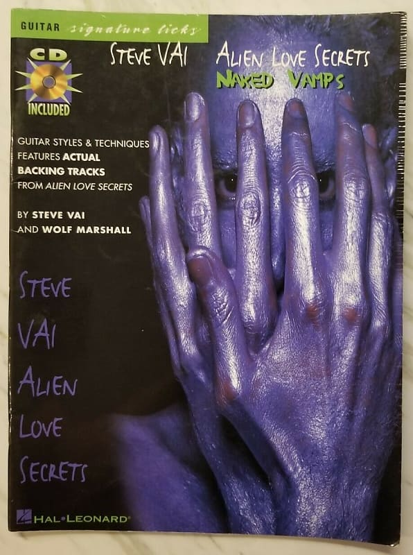 STEVE VAI Alien Love Secrets Tablature Guitar Tab Book Songbook Book Music