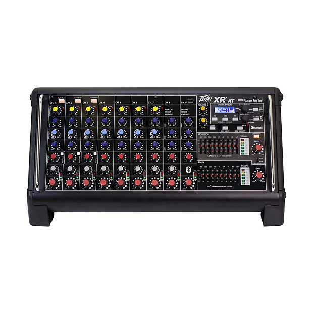 peavey xr at 9 ch powered mixer with auto tune reverb. Black Bedroom Furniture Sets. Home Design Ideas