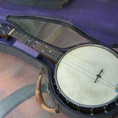 SS Stewart Banjo Ukulele w/ Original Case & Elton Resonator * EXCELLENT * for sale