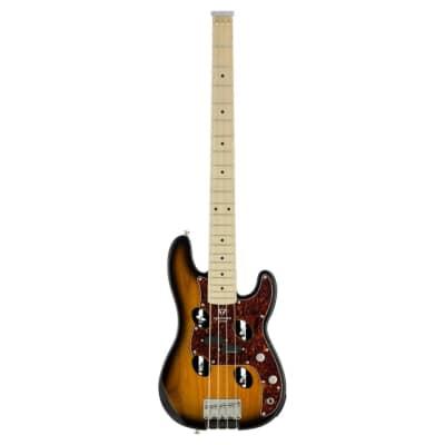 Traveler TB-4P Travel Bass Guitar, Maple Fretboard, Sunburst w/ Gig Bag for sale