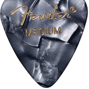 Fender 351 Premium Celluloid Guitar Picks - MEDIUM, BLACK MOTO 12-Pack (1 Dozen) for sale