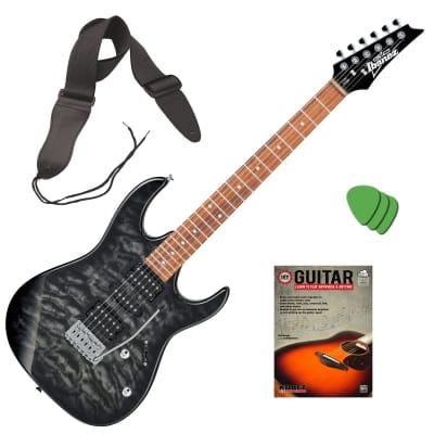 Ibanez GRX70QA GIO RX Electric Guitar - Black Sunburst BONUS PAK