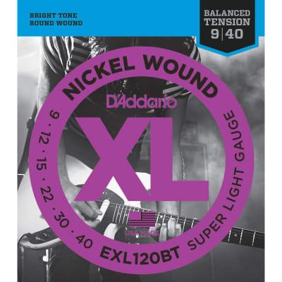 D'Addario EXL120BT Nickel Wound Electric Guitar Strings, Balanced Tension Super Light Gauge