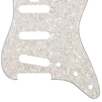 Genuine Fender Pickguard Elite Strat SSS Wht Moto 4-Ply