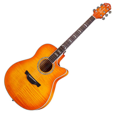 Crafter Noble Small Jumbo Flame Maple Orange Sunburst Gloss 25.5