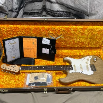 Fender USA Custom Shop 1963 Stratocaster Korina Journeyman Guitar 2020 with COA + Case Natural Oil for sale