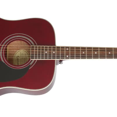 Epiphone EAPPWRCH1 PRO-1 PLUS Acoustic Wine Red w/ Chrome Hardware for sale