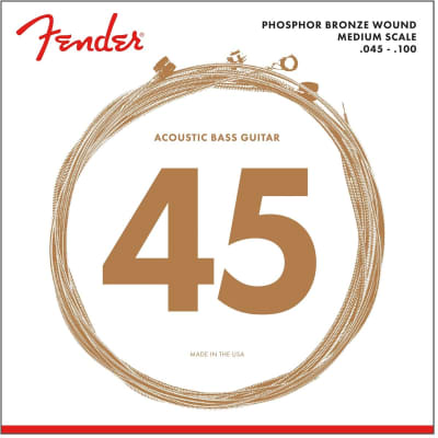 Fender 7060 Phosphor Bronze Acoustic Bass Strings 45-100