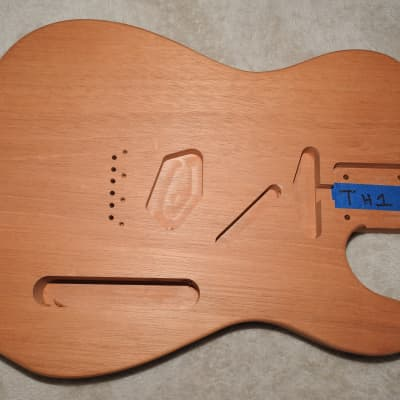 52 Style 1 Piece Honduran Mahogany Telecaster Body Unfinished with Standard Routes