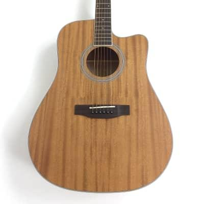 Haze Dreadnought Mahogany Acoustic Guitar Natural|FA-125MMC| for sale
